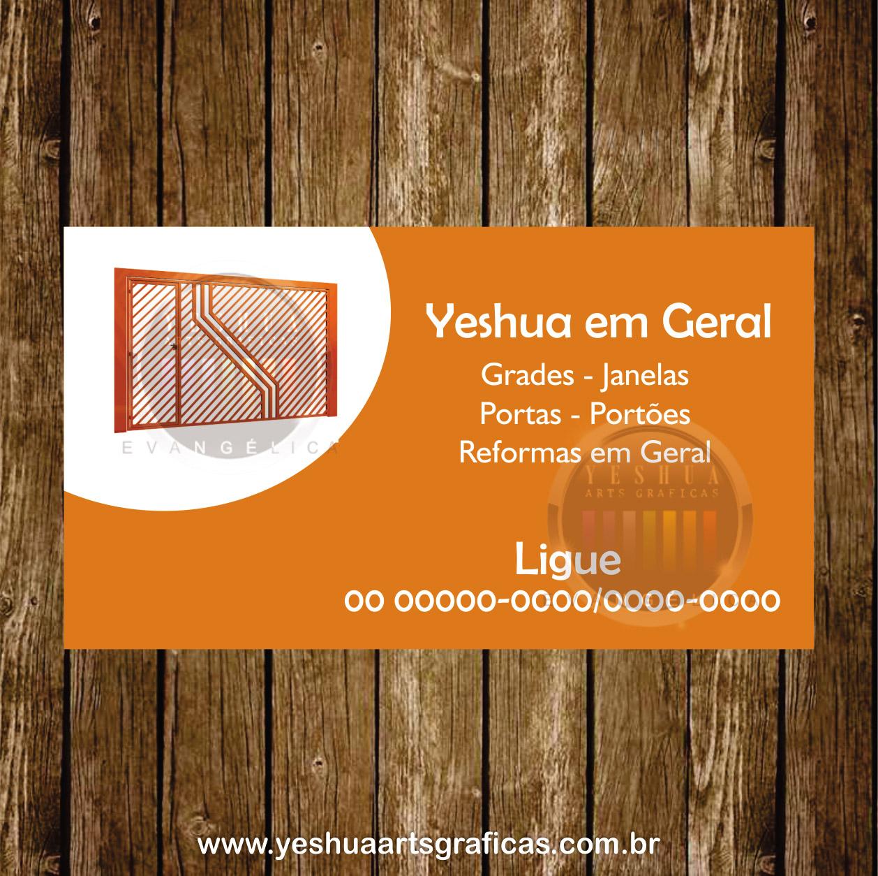 cart u00c3o de visita serralheria