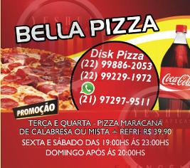 ima de geladeira pizzaria, bella pizza